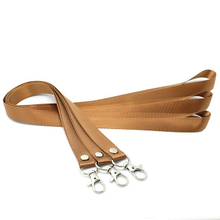 Custom Nylon Lanyards in Brown Color without Logo Printing