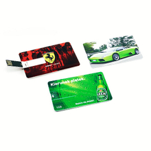 Credit card usb flash drive with customize logo for sale