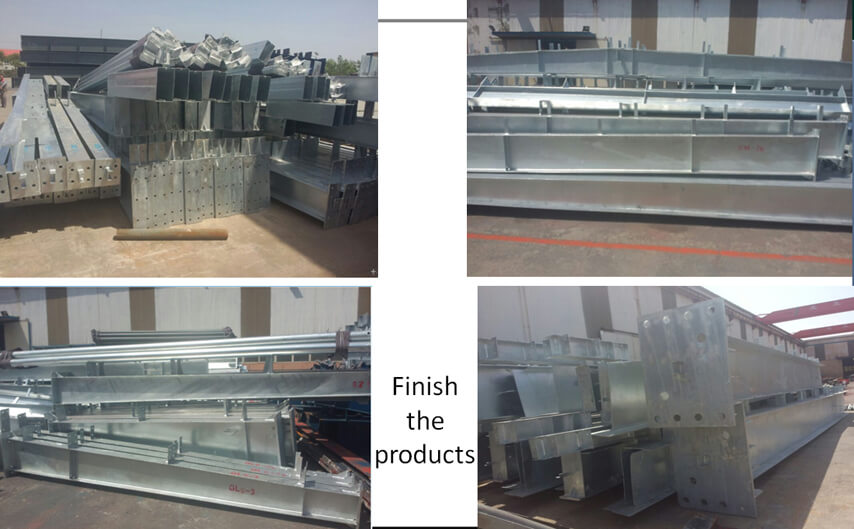 Saudi Arabia steel structure plant project finished production