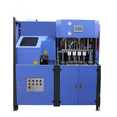 Semi Automatic PET Bottle Blowing Machine With Four Cavities
