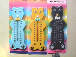 A009 Wooden Thermometer