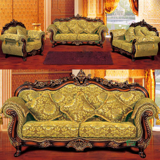 929G Living Room Sofa with Wooden Sofa Frame