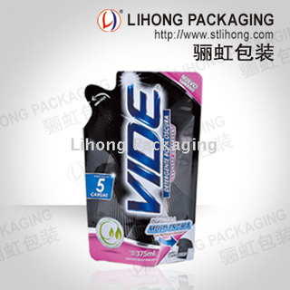 Special Shape Diecut Laminated Packing Bag for liquid detergent