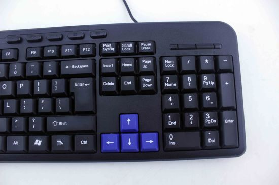 USB Computer Keyboard with 10 Mutimedia Keyboard for Computer