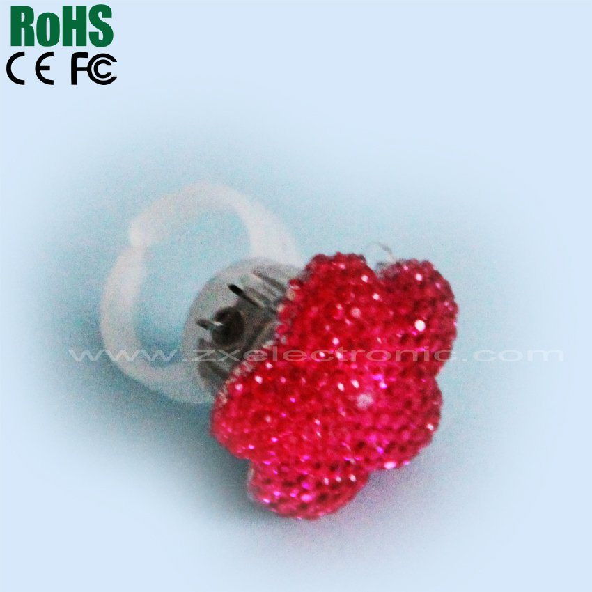 LED ring /rose led finger ring for promotion /LED ring light