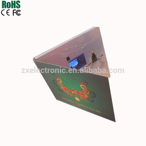 4.3'' ,5'' and 7'' video card for promotion,Christmas and advetising