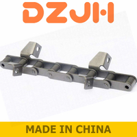 Types S and C Steel roller chains with attachments
