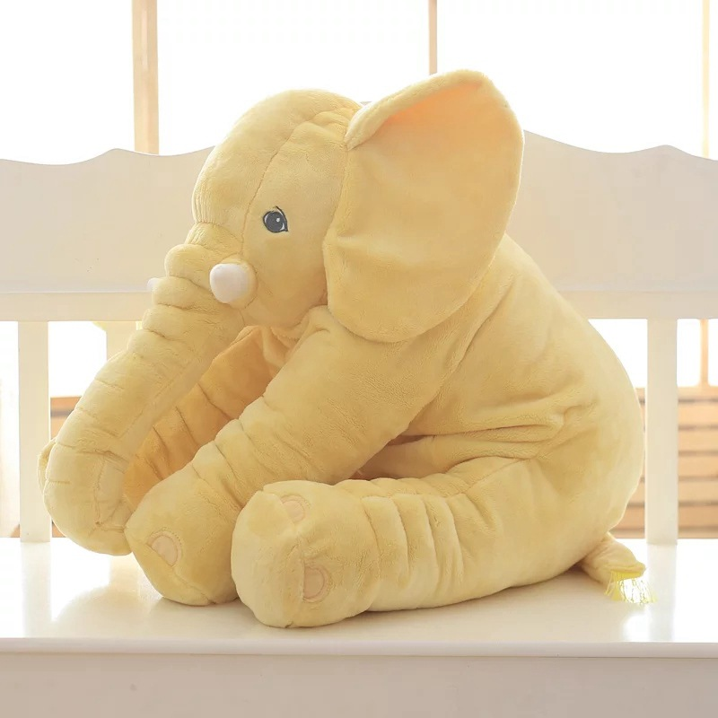 Hot Sale Plush Stuffed Baby Gray Elephant Pillow