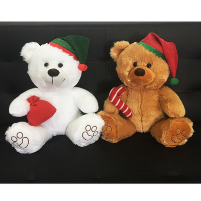 Christmas Giant Plush Toy Teddy Bear with Hat