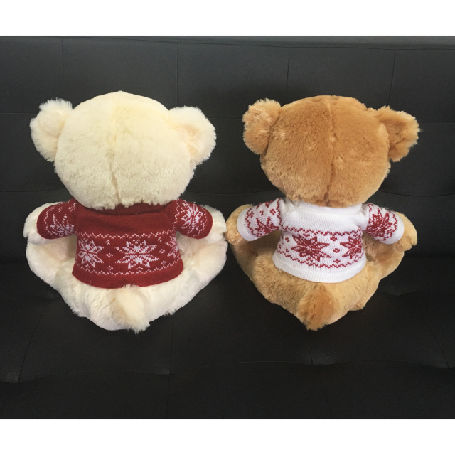 Newest Custom Plush Couple Teddy Bear with Sweater