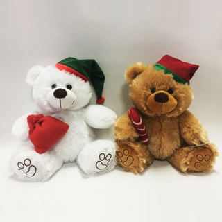 25cm Lovely Christmas Teddy Bear Soft Plush Toys
