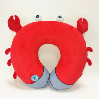 Red Crab Stuffed Animal Neck Pillow with Bluetooth