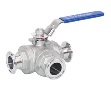 Stainless Steel 3Way Clamp Ball Valve