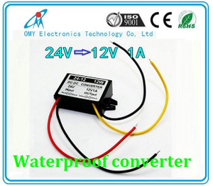 24V step down 12V 1A/2A/3A/5A ABS Plastic IP65 waterproof dc dc converter power converter