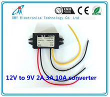 12V step down 9V 2A/3A/6A/10A ABS Plastic IP65 waterproof dc dc converter power converter