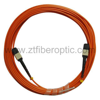Multimode 12fibers MPO Optical Fiber Patch Cord