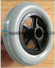 6 Inch Solid PU Wheel for Wheelchair Front Wheels