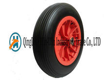 "Flat Free Wheels with Plastic Center (14""X3.50-8)"