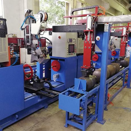 Automatic LPG Gas cook cylinder MIG welding machine line