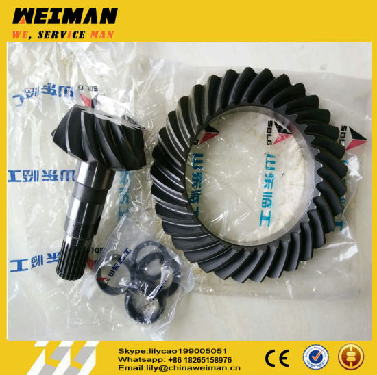 Genuine B877 Backhoe Loader Spare Parts 4110001923006 Crown Wheel, Spiral Bevel Gear 12/33 068346 for Backhoe