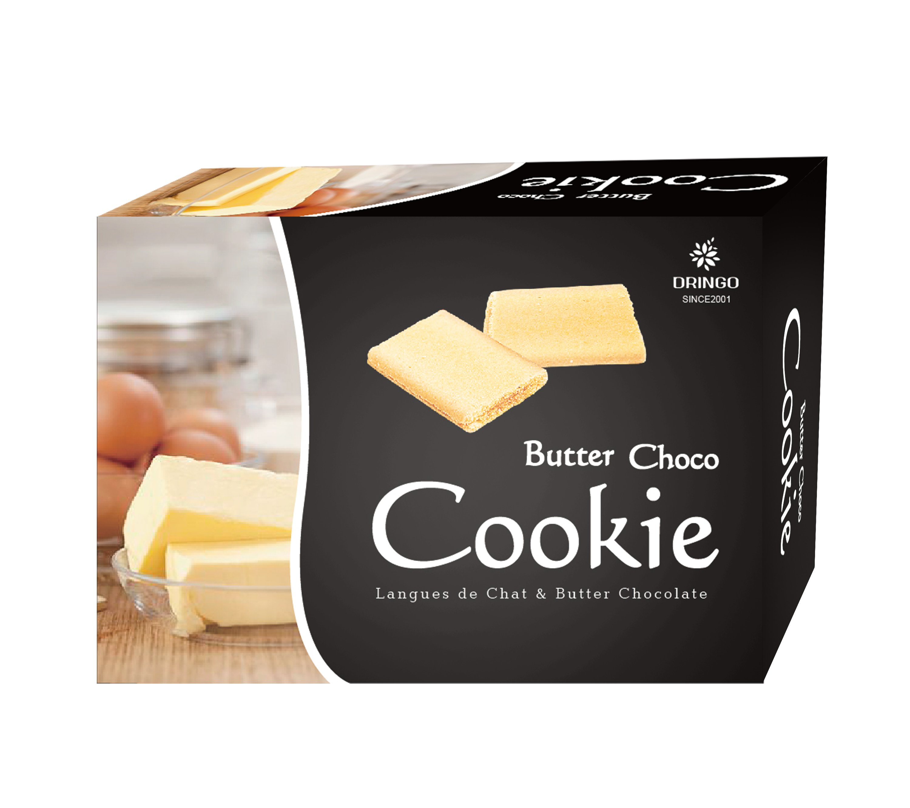 Butter Chocolate Cookie Langue de Chat & Original Chocolate