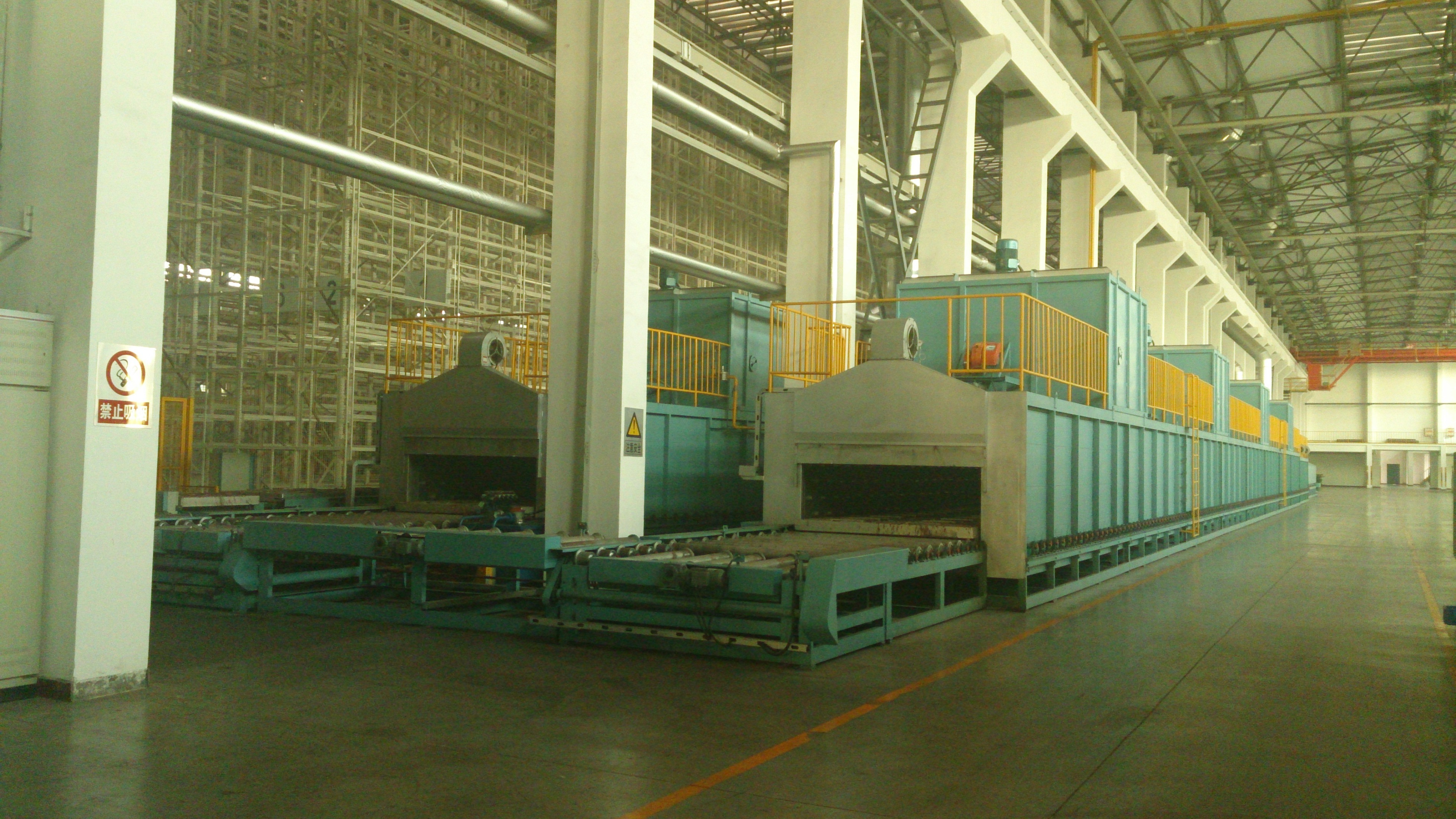 tunnel type core drying oven