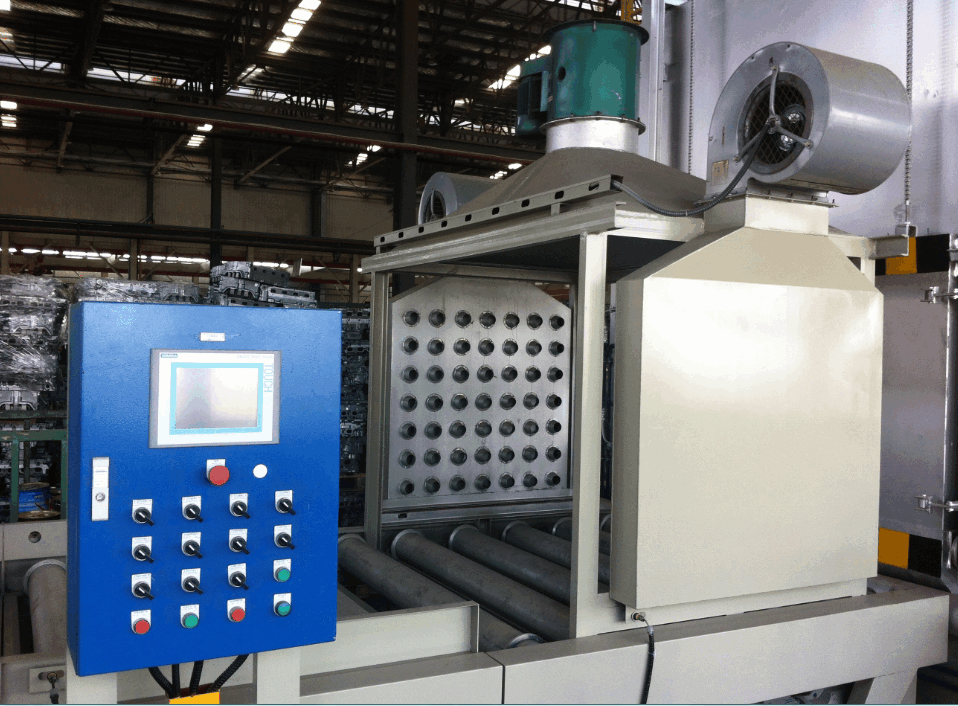 Air quenching oven for aluminium alloy