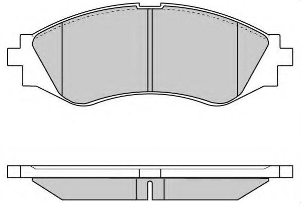 Brake pad for DAEWOO