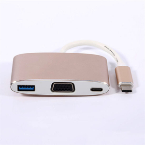 3 in 1 Type C Hub Including USB3.0 Af+VGA+Pd