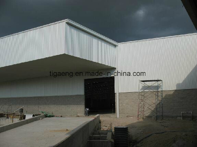 Light Gauge Steel Structure Multi Span Workshop with Crane
