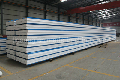 50/75/100/150/200mm Thickness EPS/PU/Rockwool Sandwich Panel