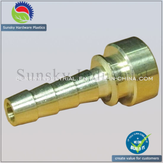 High Precision CNC Brass Turning Parts for Hose Fitting (BR17015)