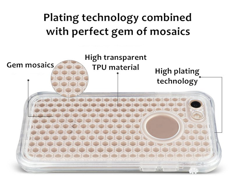 TPU Honeycomb Water/Shockproof Phone Case for iPhone 7