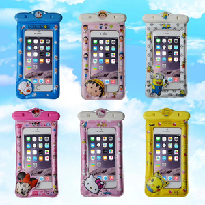 Wholesale Cartoon Inflatable Floating Waterproof Phone Bag for IPhone High Quality Universal Resistant Waterproof Phone Bag for Mobile Phone