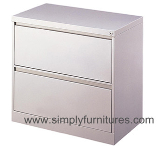 2 drawers office metal lateral file cabinet white