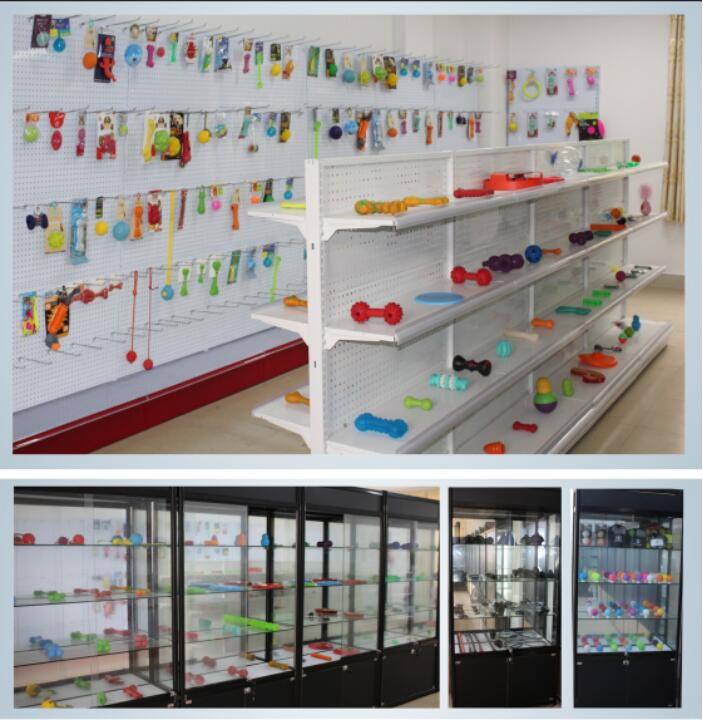 Show rooms of rubber pet toy