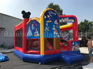 RB3094-1(5.8x5m)Inflatable Customize Cartoon Theme Combo Castle Playground Bouncer and Slide for Kids