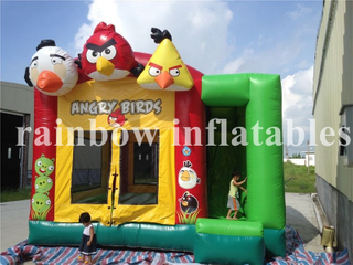 RB3045(5x5m)Inflatable Angry Birds Theme Bouncer/Inflatable Bouncer Combo for Kids