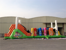 RB5062(14x4m)Inflatable Rainbow Kids obstacle course
