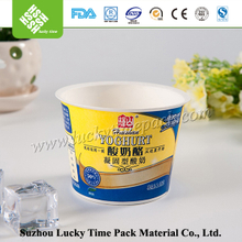 Disposiable paper printing food grade PS plastic food container
