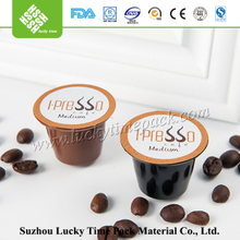 Biodegradable PLA nespresso compatible coffee capsules