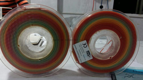 1.75mm Colorful Gradient 3D Printer Filaments with 1kg/roll weight