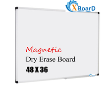 XBoard Magnetic 48 x 36 Inch Dry Erase Board with Detachable Marker Tray, Aluminum Framed Whiteboard for Home, Office or School