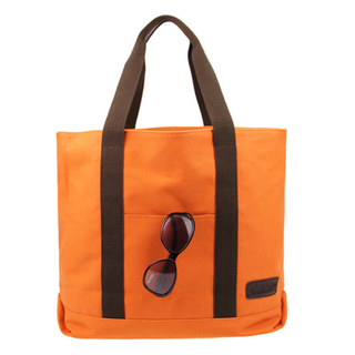 Orange Sturdy Polyester Beach Bag