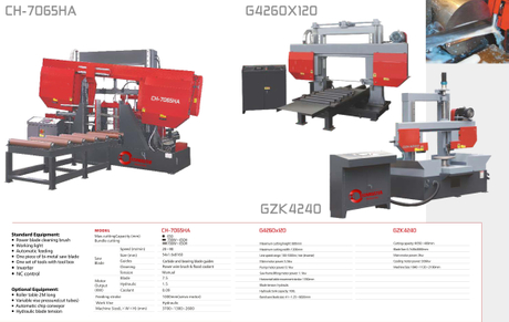 DOUBLE COLUMN FULLY AUTOMATIC BAND SAWS CH7065HA-G4260X120-GZK4240