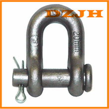 Round pin and cotter chain shackles