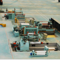 Double cutter seat steel slitting machine line