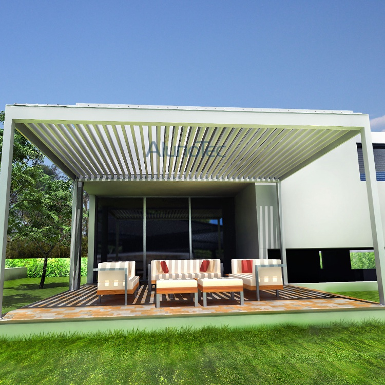 pergola louvre roof system with led lights buy aluminum. Black Bedroom Furniture Sets. Home Design Ideas