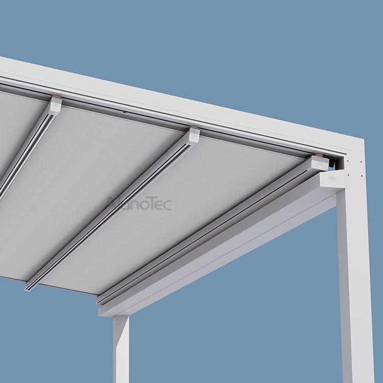 Aluminum Retractable Awning Pvc Pergola Sunshading Cover