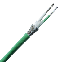 PFA insulated thermocouple extension wire with stainless steel inner shield--Single pair